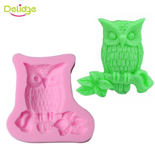 1PC Cute Owl Shape Silicone Fondant Mold 3D Cake Confectionery Candy Mold DIY Wedding Cake Decorating Baking Tools