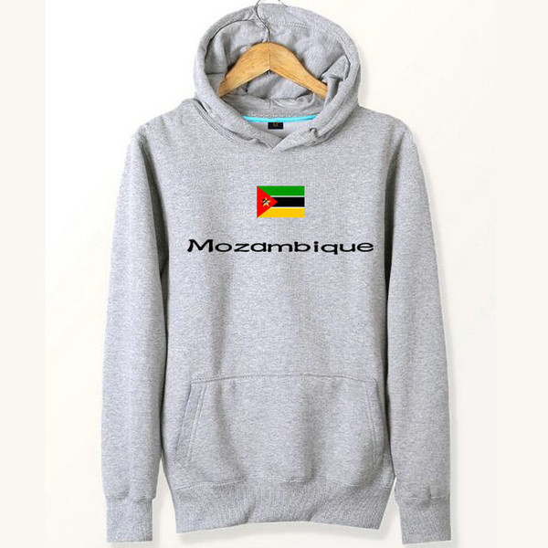 Mozambique flag hoodies Team banner gym workout sweat shirts Country fleece clothing Pullover sweatshirts Outdoor sport coat Brushed jackets