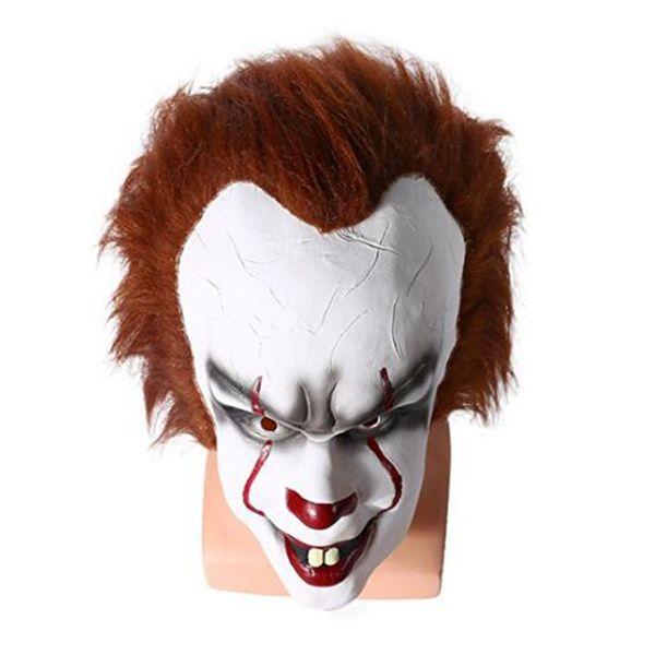 2019 Силикон Movie Стивена Кинга Это 2 Joker Pennywise Маска анфас Horror Клоун Латекс маска Halloween Party Ужасные маски Cosplay Prop