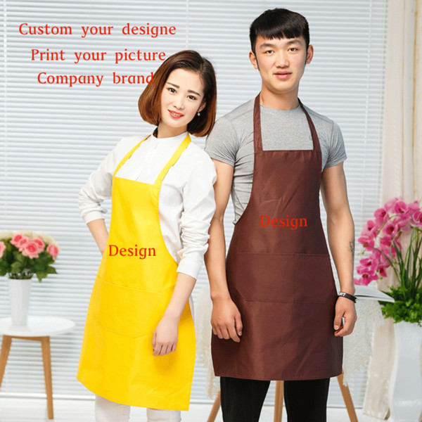 best selling Pure color blank aprons advertisement apron can customized design printed company name waterproof aprons promotional gifts wholesale