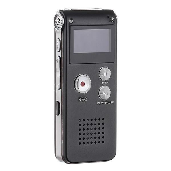 Ingrosso-Nero 3in1 Pocket ricaricabile Mini 8GB Digital Audio Voice Recorder Dittafono 3D Stereo MP3 Player USB Flash Pen Drive
