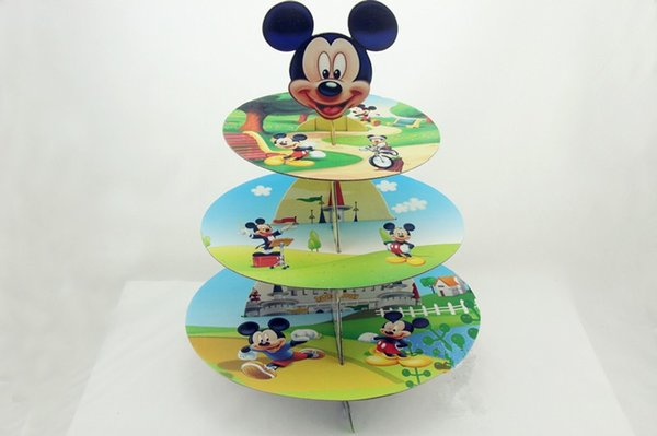 Free Shipping Micky Mouse cupcake stand cartoon cake dessert stands baby boy girl kids birthday party decoration supplies favors