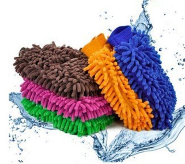 100pcs 9 colors Microfiber Snow Neil fiber high density car wash mitt car wash gloves towel cleaning gloves G041