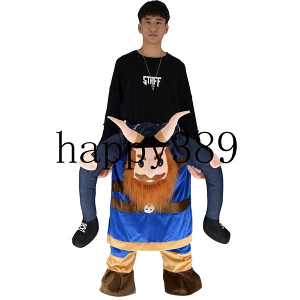 Horn piggyback pirate times oktoberfest Halloween back my mascots carry packsaddle mascot costume clothes