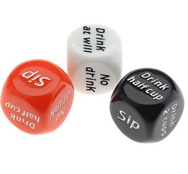 Multi color Party Drink Decider Dice Games Pub Bar Fun Die Toy Gift KTV Bar Game Drinking Dice 2.0cm