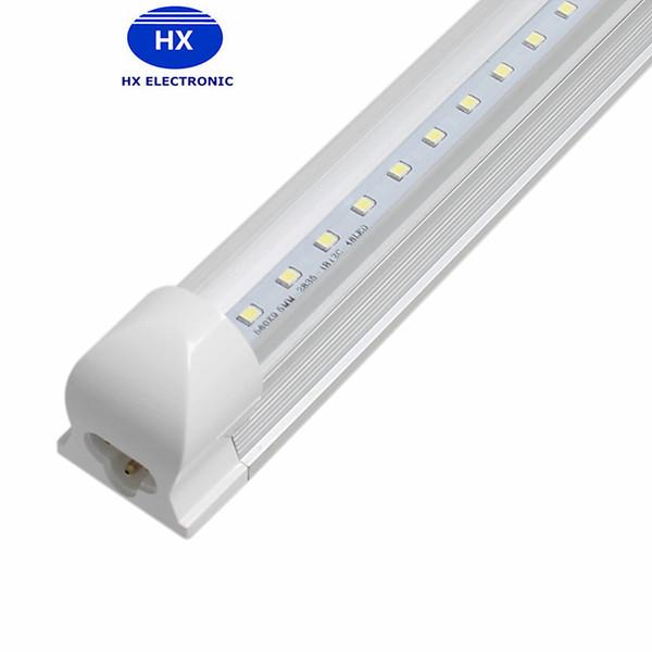 LED-Rohr leuchtet T8 integrierte LED Tube Beleuchtung 8ft 45W 2.4M SMD2835 Warm / kaltweiß ersetzen Leuchtstoffröhren AC85-265V