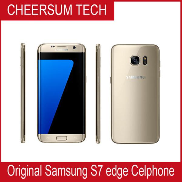 Yenilenmiş Orijinal Samsung Galaxy S7 Kenar G935A G935T G935V G935P G935F perakende kutusu ile Unlocked Cep Telefonu 5.5 1 adet ücretsiz DHL