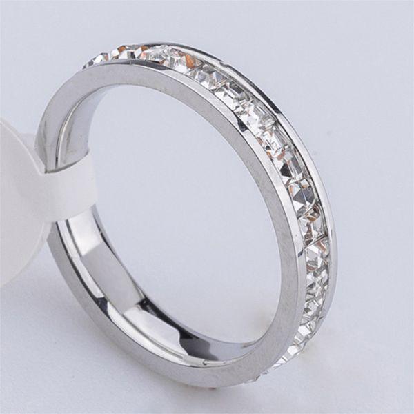 Silver with single row diamond