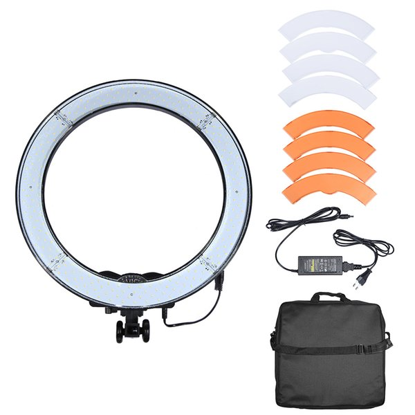 RL-18 LED Ring Licht Selfie Licht 240pcs Perlen Studio LED Lampe Panel CRI 90 + 5500K Video Licht Lampe mit Farbdiffusionsfilter