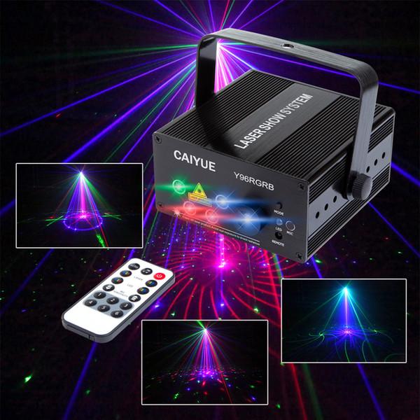 Luz do estágio do laser do DJ Cor completa 96 RGB ou padrões de 48 RG Projetor Iluminação do efeito de fase do diodo emissor de luz de 3W azul para a luz do disco Partido do Xmas