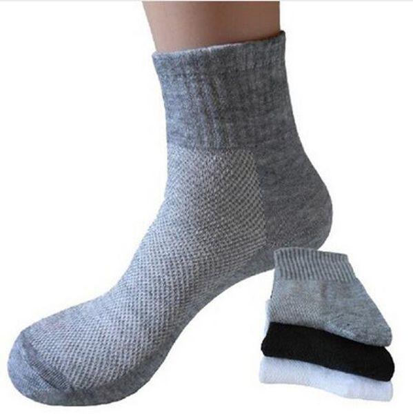 Men Socks Summer Solid Color Mesh Male Short Sock Durable Breathable Anti-static Black Male Sock Calcetines meias