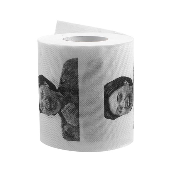 top popular Wholesale- 1Pc Hillary Clinton Toilet Paper Tissue Roll Funny Prank Joke Gift 2Ply 240Sheet 2021