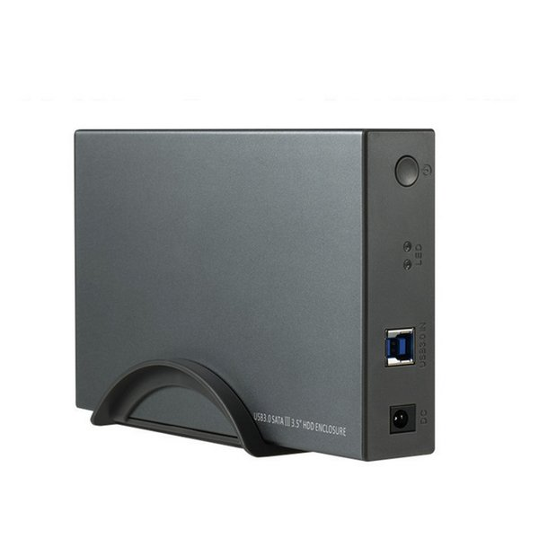 """Aluminium 3.5"""" Hard Drive Enclosure, SATA to USB 3.0 Hard Drive Case Supports for 3.5-Inch HDD and SSD"""