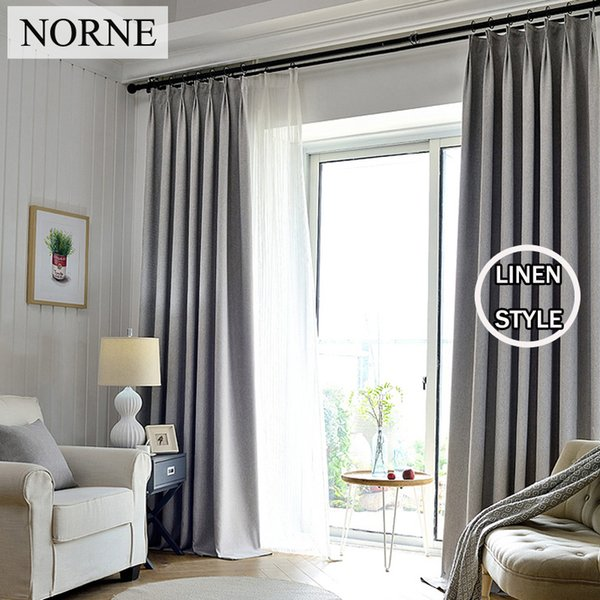 top popular NORNE Solid Blackout Curtain 85% Shading Rate Thermal Insulated Grommet Noise Blocking Window Curtains for Bedroom Living Room,One Panel 2020
