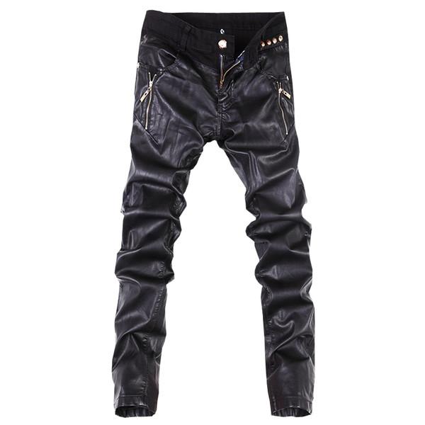 All'ingrosso-Nuovi arrivi moda uomo casual pantaloni slim fit in pelle skinny jeans pantaloni 28-36 B104