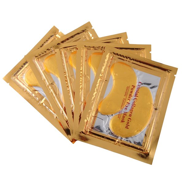 Wholesale- Hot New 5 pair Gold Crystal Collagen Eye Mask Hotsale eye patches The bionic eye black beauty make up Skin care mask Products