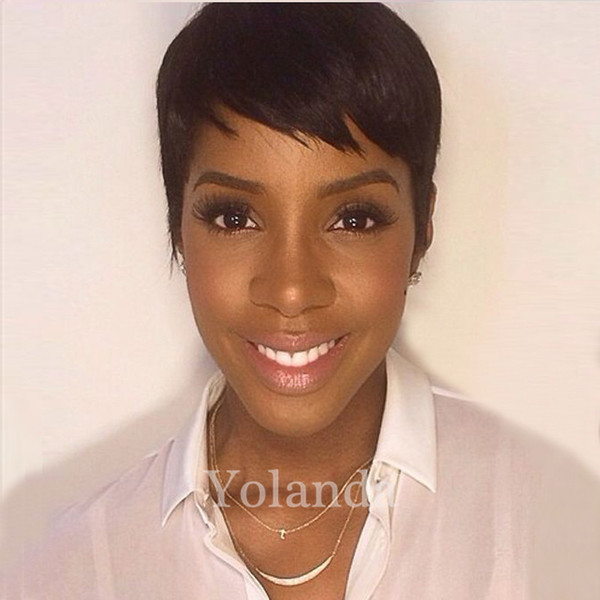 New Arrival Cheap Pixie Cut short glueless human hair wigs with baby hair lace front wig for black women Best brazilian hair wigs