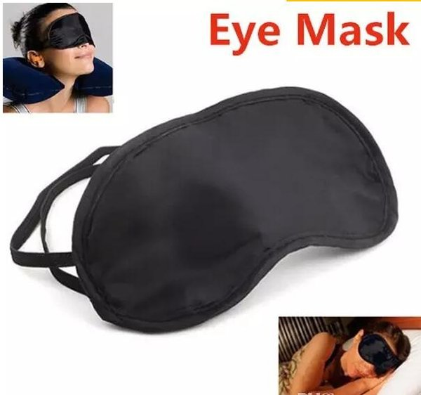 best selling 2017 High quality Shade Eyeshade Sleep Rest Travel Eye Masks Nap Cover Blindfold Skin Health Care Treatment Black Sleep Free shipping