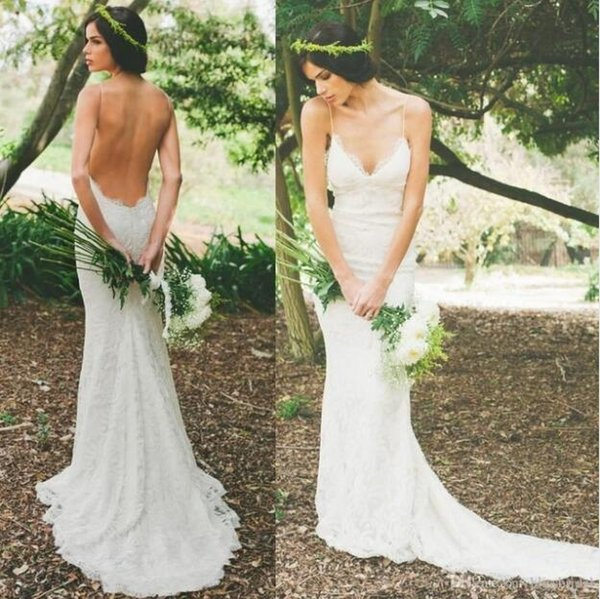2017 mermaid lace wedding dresses vestidos custom made sexy low back 2017 mermaid lace wedding dresses vestidos custom made sexy low back deep v neck bridal junglespirit Image collections