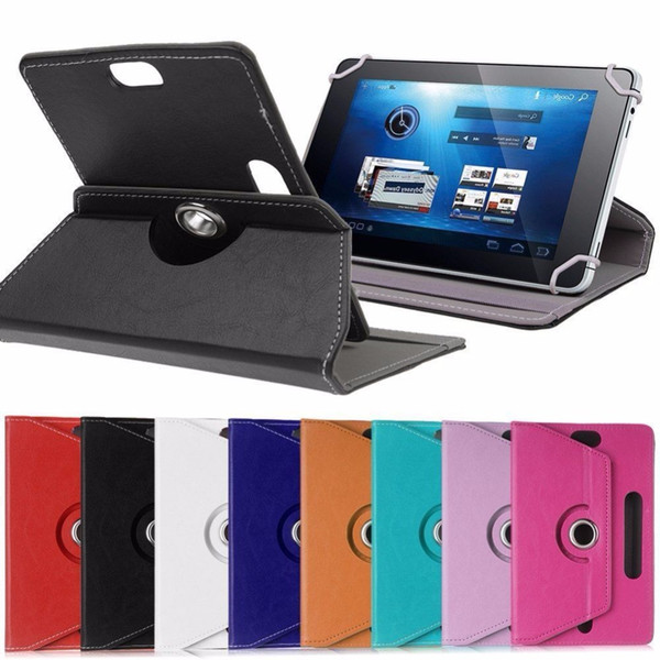 """Universal PU Leather Stand Case Cover 360 Degree Rotation For 7""""8""""9""""9.7""""10.1"""" inch Android Tablet Cases For Samsung Apple iPad"""