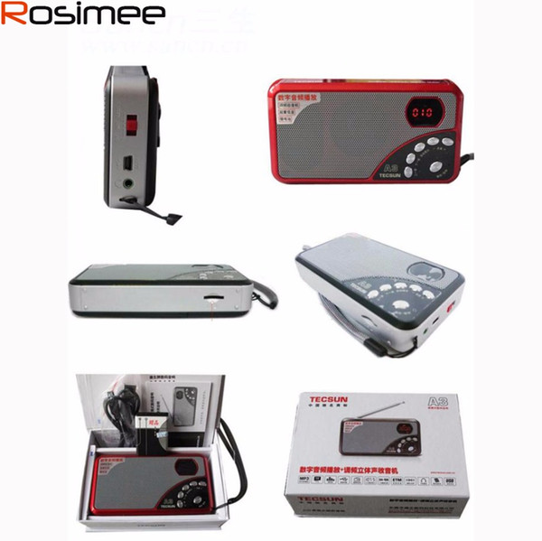 Großhandels-Original TECSUN Portable Audio MP3 Lautsprecher A3 Karte FM Alter Mann Radio, Desheng FM Stereo Radio Digital Audio Card Sound