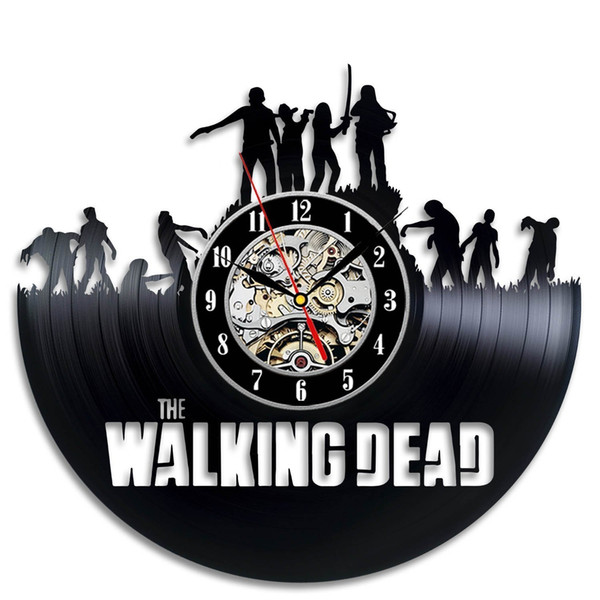 best selling The Walking Dead Art Vinyl Wall Clock Gift Room Modern Home Record Vintage Decoration
