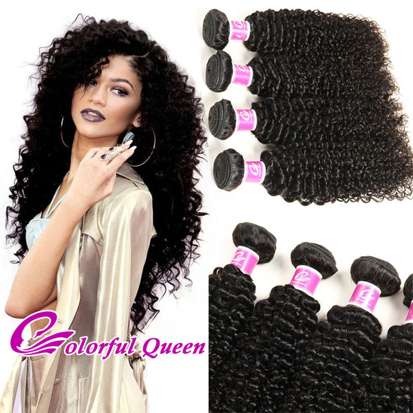 Brazilian Virgin Hair Extensions 3pcs 4pcs Indian Afro Kinky Curly Human Hair Weave Jerry Curly Peruvian Malaysian Virgin Hair Bundles