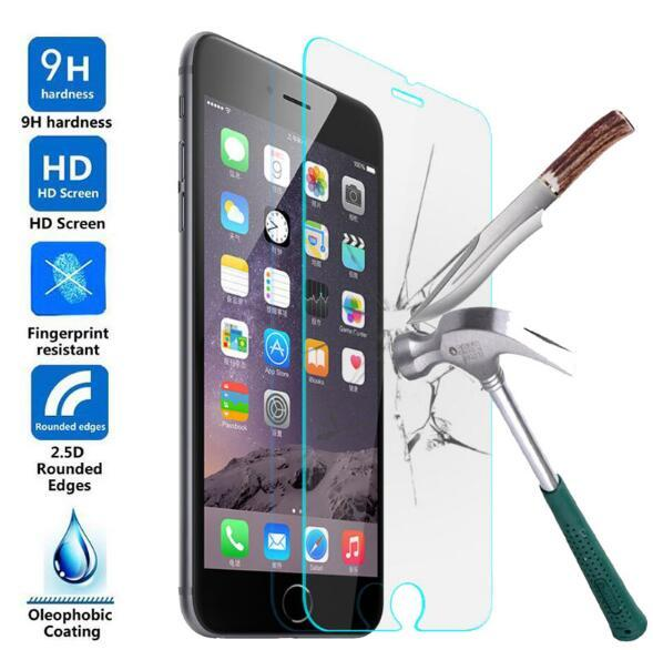 tempered glass For Iphone 7 6S Plus X 5S 4S 9H Anti Scratch Temper Glass Screen Protector For Huawei P9 P10 Nova