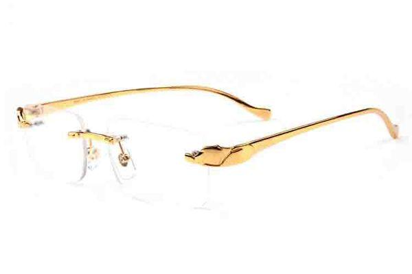 Luxury buffalo horn sunglasses for men fashion leopard glasses stand black brown clear multiple colour lens rimless full frame sunglasses