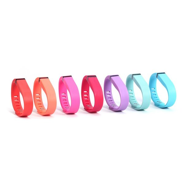 Fitbit Flex Wristband Large Small Band With Metal Clasps Replacement Rubber TPU Wrist Straps For Activity Bracelets Smart Wristbands