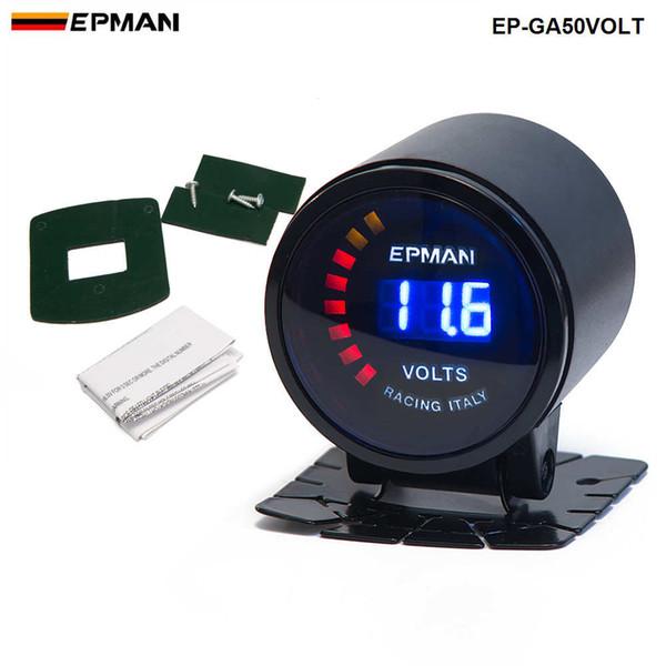 "best selling TANSKY -New! Epman Racing 2"" 52mm Smoked Digital Color Analog Digital Voltage Volt Meter Gauge with bracket EP-GA50VOLT"