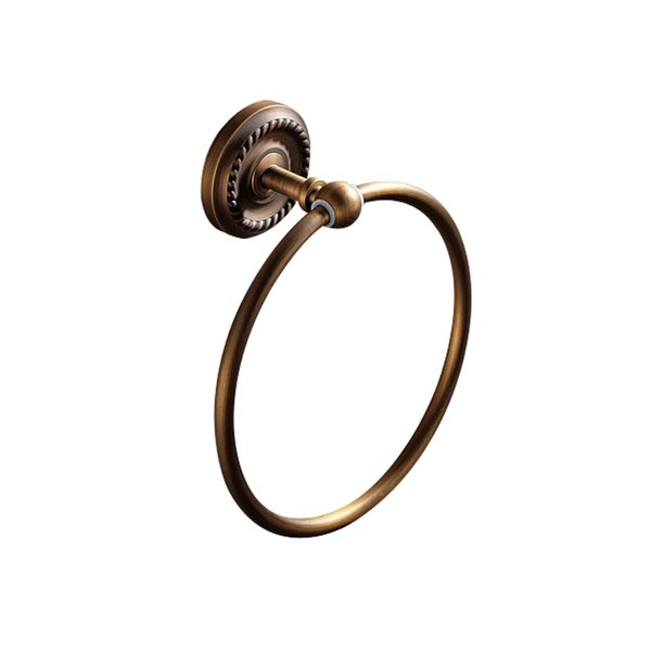 European style Wholesale And Retail Promotion NEW Antique Brass Towel Ring Hanger Wall Mounted Antique Brass Towel Bar Holder HH201606