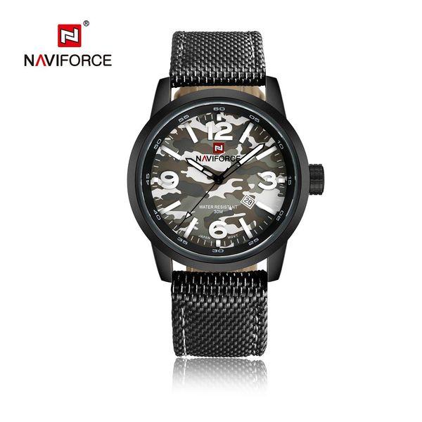 Relojes de hombre Camuflaje Reloj de cuarzo Reloj de nylon Correa impermeable Hodinky militar Relogioes Masculino Esportivo