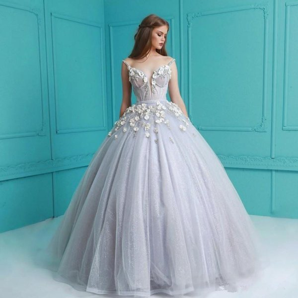 Cheap Wholesale Beaded Applique Ball Gowns Prom Dress Backless ...