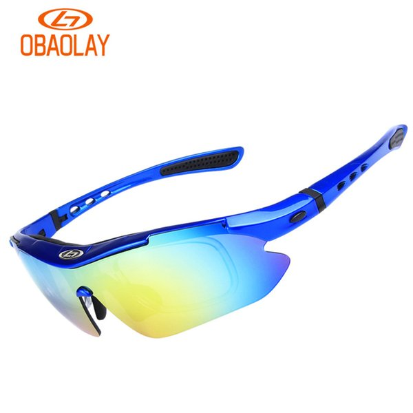 OBAOLAY Cycling Glasses 5 Lens Bike Bicycle Goggles Polarized With Myopia Frame Outdoor Sport Sunglasses Eyewear Accessories