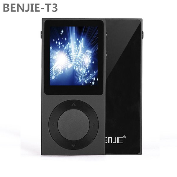 "Wholesale- Original BENJIE T3 MP3 Player 1.8"" TFT Screen Full Zinc Alloy Lossless HiFi MP3 Music Player Support DSD /Bluetooth/ AUX"