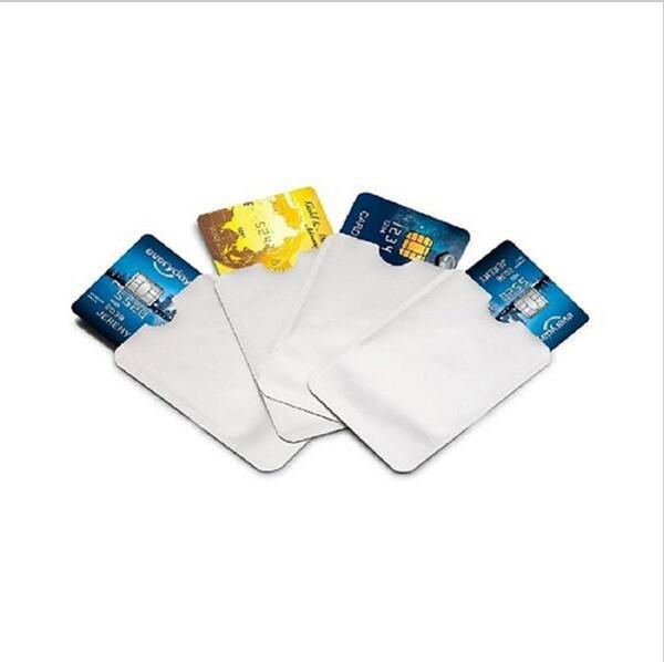 Manguitos de bloqueo RFID Tarjeta de crédito Estuches para pasaportes Estuche antirobo a prueba de agua Soft Bank 2000 Unidades YYA140