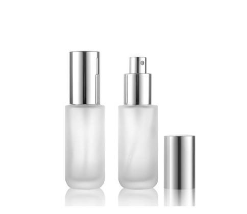 Freies verschiffen 2017 Neue heiße verkauf 30 ml Transparente kappe bereift / matt glasflasche pumpe lotion flaschen