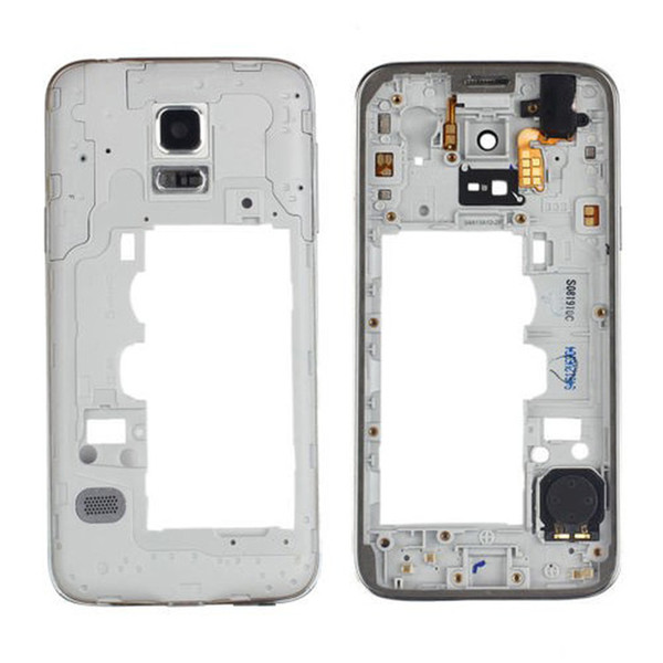 Rear Housing Back Plate Replacement for Samsung Galaxy S5 Mini G800 G800F Single SIM Dual SIM Model Middle Frame Black White Gold