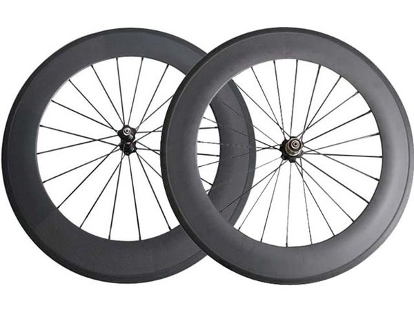 SAT No outer holes 23mm Width 88mm clincher/Tubular carbon wheels road bike wheelset ready compatible China Carbon Wheels