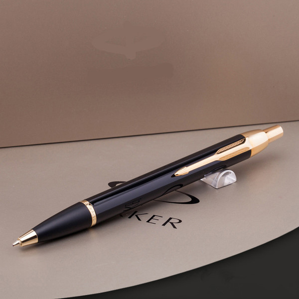 best selling 2pc Business office Parker IM Series Black With Golden Trim Metal Ballpoint Pen