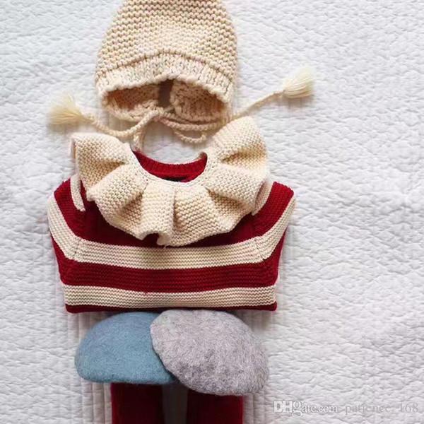 Nouveau style hiver doux écharpe tricoté tout-allumette bébé chaud couleur unie garçon et fille bébé coton écharpe haute qualité coton foulards