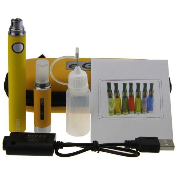 MT3 EVOD Starter Kit EVOD Battery 650mah 900mah 1100mah MT3 Atomizer Electronic Cigarette EVOD MT3 Zipper case kit with eGo Case
