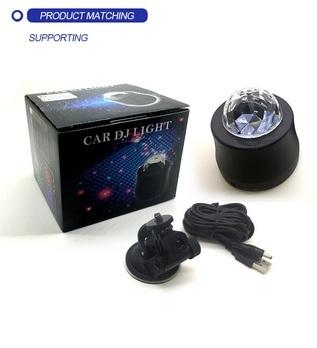 NEW Cool Car Neon Sphere Sound Music DJ flashing Light Car Crystal Magic Plasma Ball Auto Rhythm laser Projector stage light