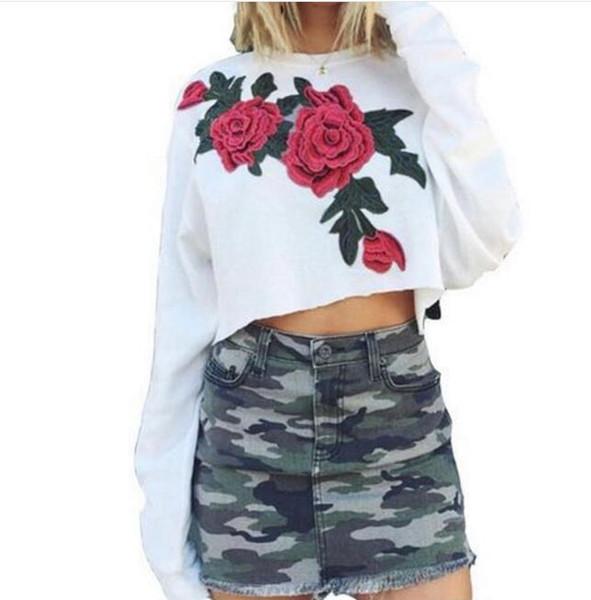 2017 Moda Sonbahar Spor Kazak kısa Ceket O-Boyun Yan Lace Up Uzun kollu Ceket Üst Palto Giyim Hoodies Kadınlar Için