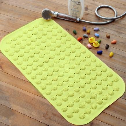 2017 Bath Mats Antislip Massage Mats Carpet Bathroom Pierced PVC Plastic Safe Pad with Suction Cups Non-slip Toilet Accessories Bathing