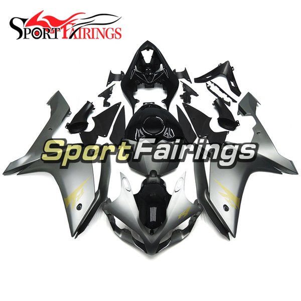 Full Injection Grey Gold Decals Fairing For Yamaha YZF1000 YZF R1 2007 2008 Plastics ABS Fairings Motorcycle Fairing Kit Bodywork Cowlings