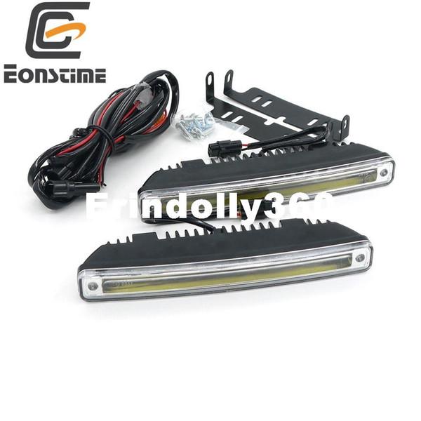 Eonstime 18CM 2pcs 8W COB LED Daytime Running Light Day Light Led Car Waterproof DRL Auto Driving Lamp External Light 9V-30V