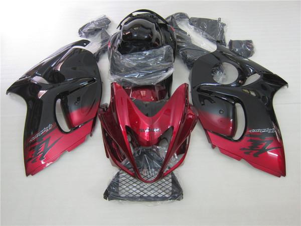 3 kostenlose geschenke Neue Heiße ABS motorrad Verkleidung kits 100% Fit Für Suzuki GSXR 1300 GSXR 1300 2008 2009 2011 Schwarz Rot