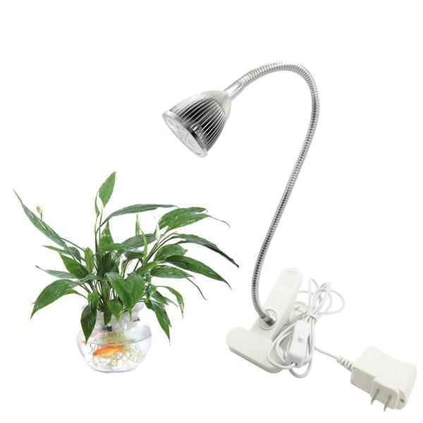 Acheter LED Plant Grow Lights 5W Lampe De Bureau Spectre Complet Avec Pince  À Ressort Avec Bras Col De Cygne Cou Flexible 360 degrés Pour Serre